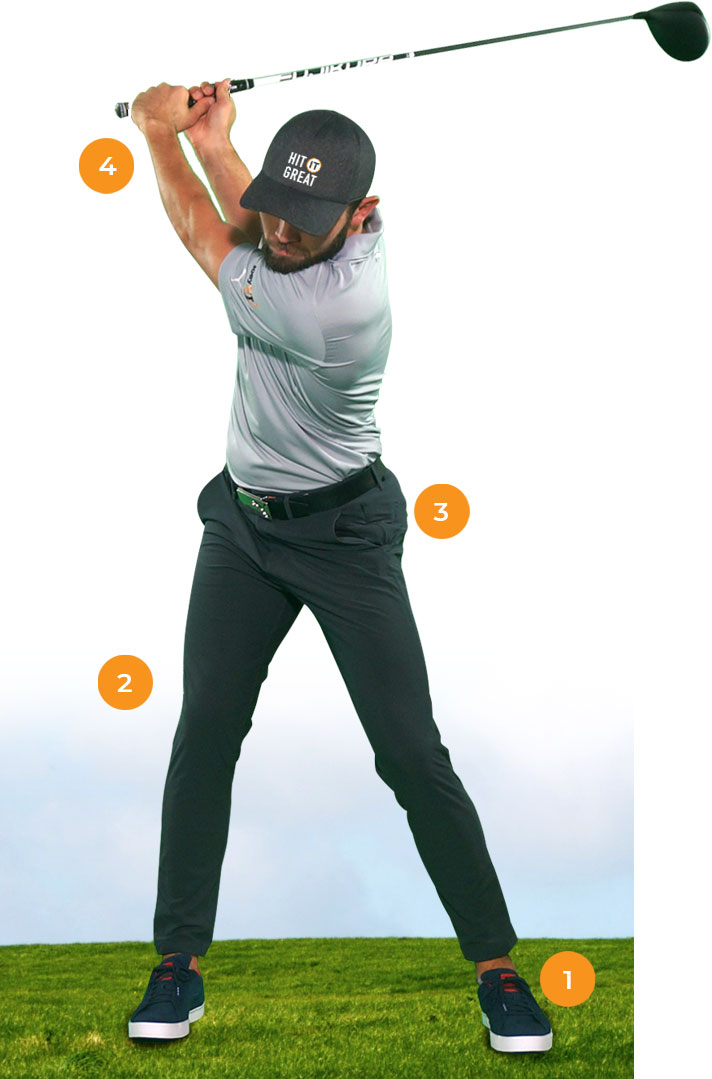 Golfer Demonstrating a Strong Golf Swing